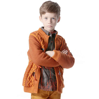 Boys Long Coat for Winter, Lamb Wool Jacket, Elegant Plush Fleece for Kids' Gift