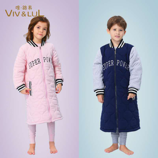 2020 new style comfortable winter thick kids pajamas set sleepwear nightgown
